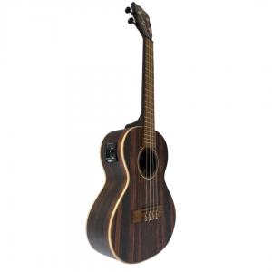 KALA KA-EBY-TE Striped Ebony Ukulele Ténor avec EQ